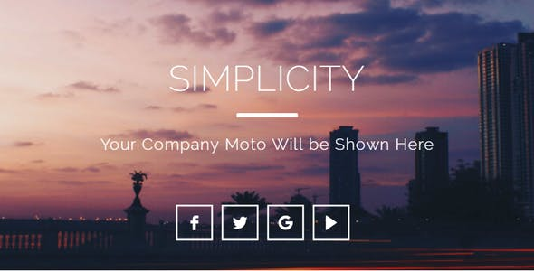 Simplicity Responsive Email Template | Version 2