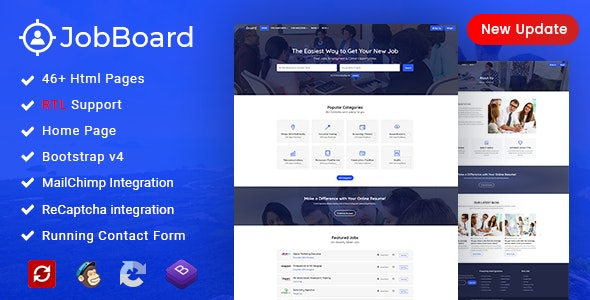 Job Board - Job Portal HTML Template + RTL - Business Corporate