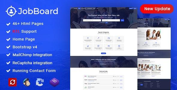 Job Board: Job Portal | Job WebSite HTML Wireframe by