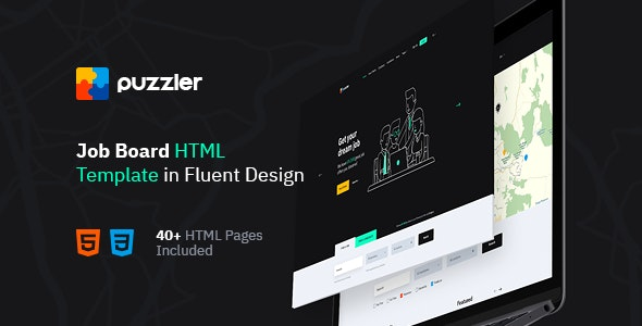 Puzzler - HTML Website Template for Job Board - Business Corporate
