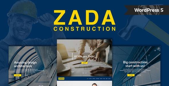 Zada - Construction WordPress Theme - Business Corporate