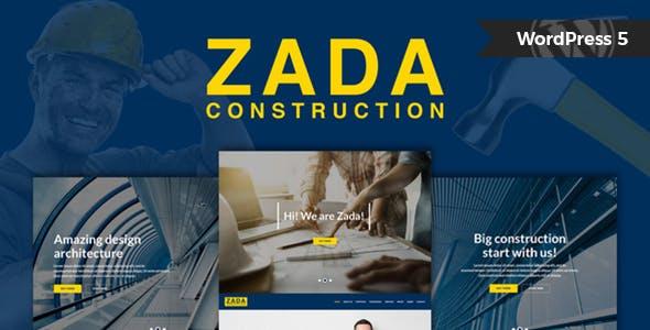 Zada - Construction WordPress Theme