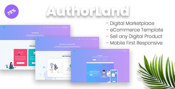 AuthorLand - Digital Marketplace eCommerce Template - Software Technology