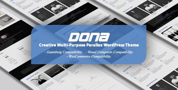DONA - Creative Multi-Purpose Parallax WordPress Theme