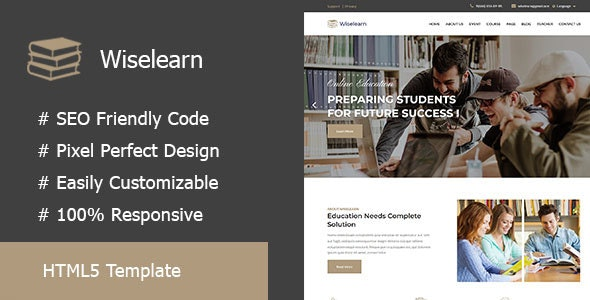 Wiselearn - Education & Courses HTML5 Template - Corporate Site Templates