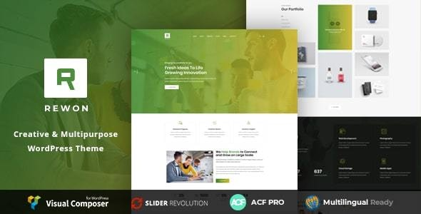 Rewon - MultiPurpose Business WordPress Theme by TM_Colors