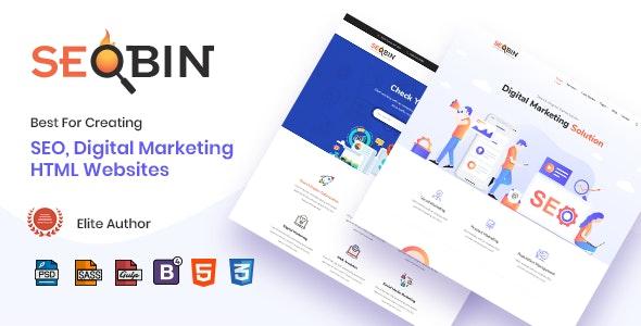 SeoBin | Digital Marketing Agency and SEO HTML Template - Business Corporate