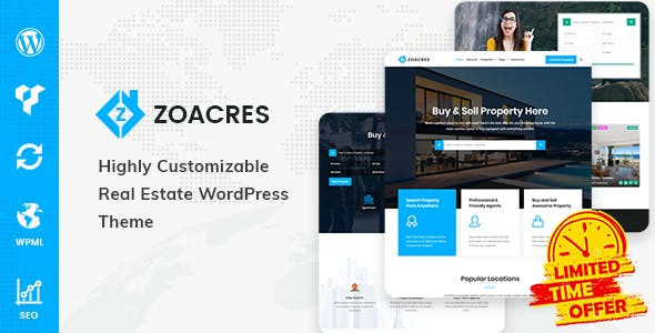 Zoacres - Real Estate WordPress Theme