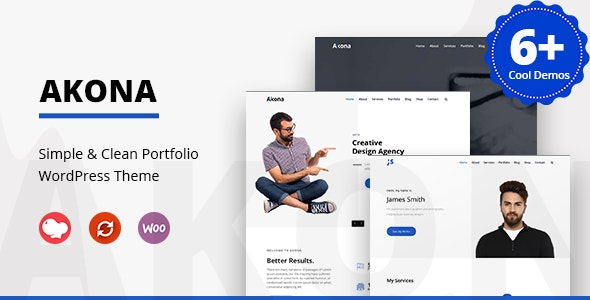 Akona - Multipurpose Portfolio WordPress Theme - Portfolio Creative