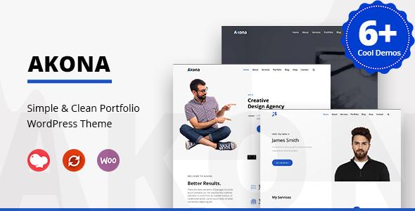 Akona - Simple & Clean Portfolio WordPress Theme - Portfolio Creative