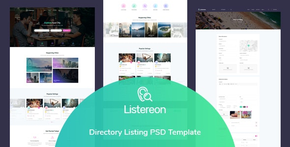 Listereon - Directory Listing PSD Template - Business Corporate