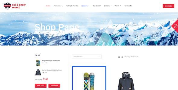 Snow Club | Ski Resort and Snowboard Classes WordPress Theme