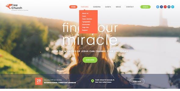 Free Church | Religion & Charity Christian WordPress Theme