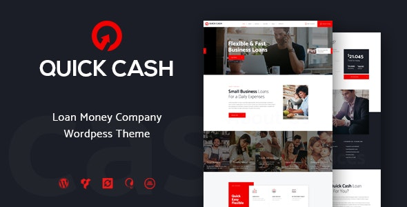 Quick Cash | Loan Company & Finance Advisor WordPress Theme - Business Corporate