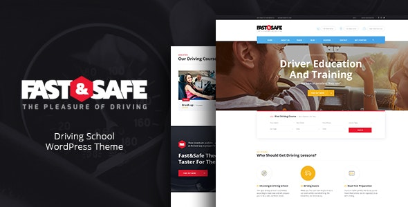 Fast & Safe | Driving School WordPress Theme - Education WordPress