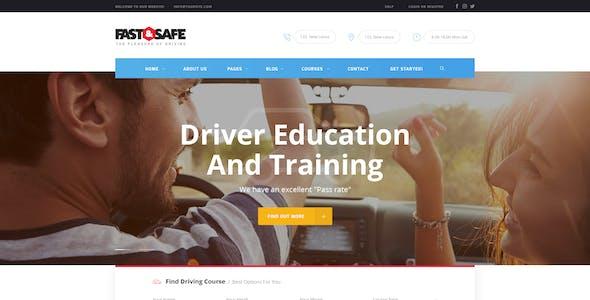 Fast & Safe   Driving School WordPress Theme
