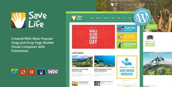 Save Life | Non-Profit, Charity & Donations WordPress Theme - Charity Nonprofit