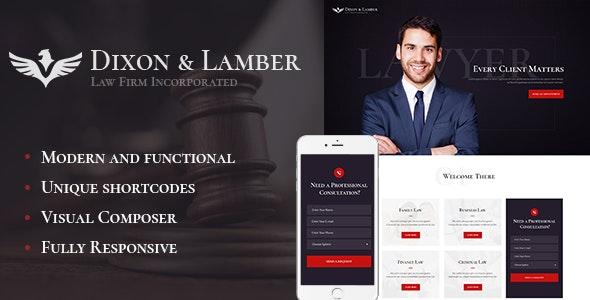 Dixon & Lamber   Law Firm WordPress Theme
