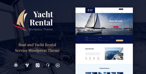 Yacht and Boat Rental Service WordPress Theme - Retail WordPress