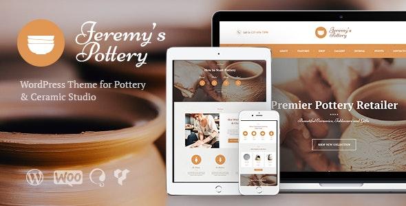 Pottery and Ceramics Handmade WordPress Theme - Retail WordPress