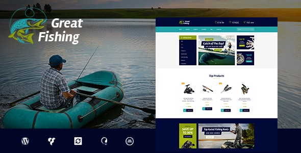 Fishing and Hunting Hobby WordPress Theme - Travel Retail