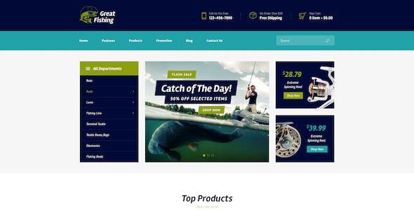 Fishing and Hunting Hobby WordPress Theme