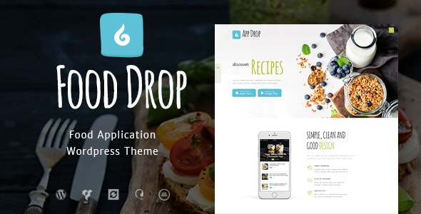 Food Drop | Meal Ordering & Delivery Mobile App WordPress Theme by