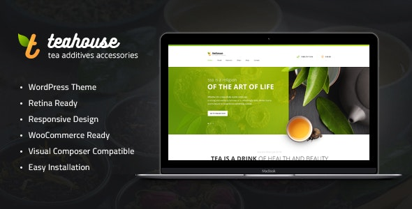 TeaHouse | Tea Store and Coffee Shop WordPress Theme - Food Retail