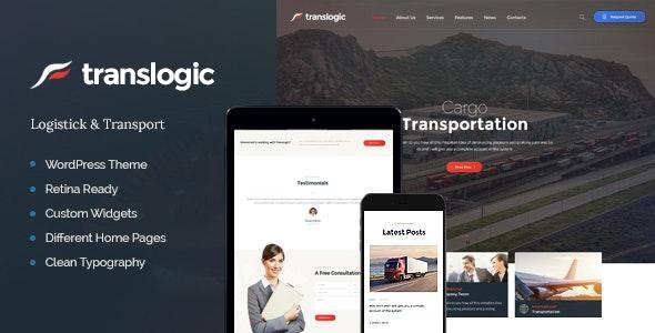 Translogic | Logistics & Transportation WordPress Theme - Business Corporate
