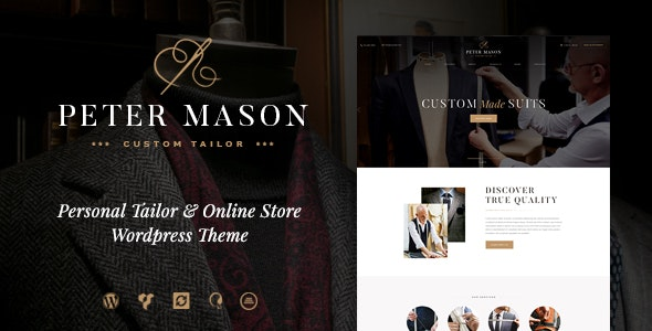 Peter Mason | Custom Tailoring and Clothing Store WordPress Theme - WooCommerce eCommerce