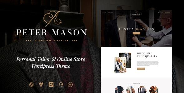 Peter Mason   Custom Tailoring and Clothing Store WordPress Theme