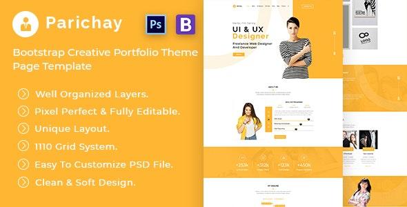 Parichay - Portfolio Web Template PSD - Portfolio Creative