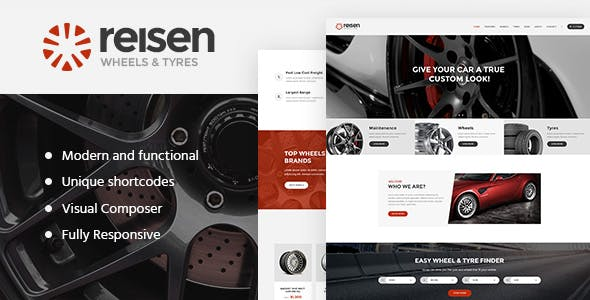 Reisen | Automechanic & Auto Body Repair Car WordPress Theme