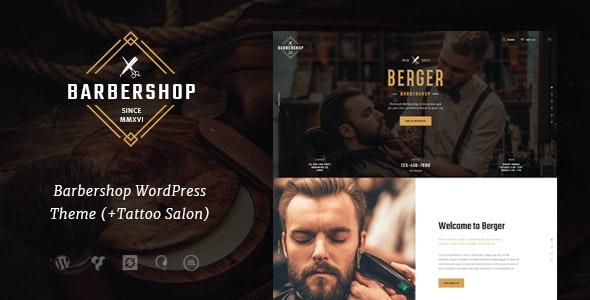Berger | Barbershop and Hairdresser + Tattoo Salon WordPress Theme - Health & Beauty Retail