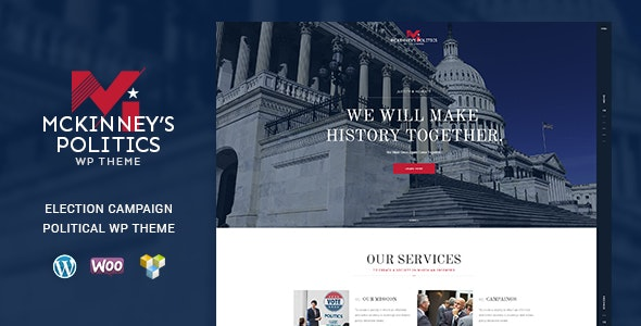 MCKinney's Politics   Elections Campaign & Social Activism WordPress Theme - Political Nonprofit