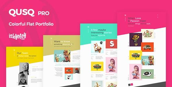 Qusq Pro - Flat Colorful Portfolio - Portfolio Creative