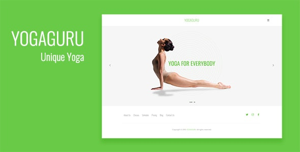 YOGAGURU — Health Beauty & Yoga Responsive Template - Health & Beauty Retail