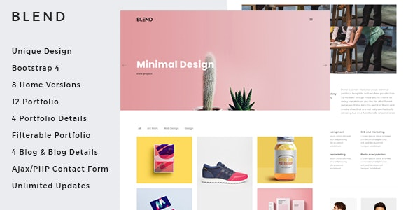 Blend - Clean & Creative Minimal Portfolio & Agency HTML Template - Portfolio Creative