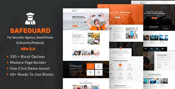 Safeguard - Security Services WordPress