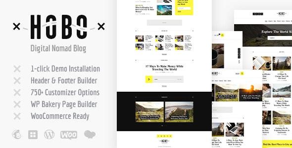 Hobo   Digital Nomad Travel Lifestyle Blog WordPress Theme - Travel Retail