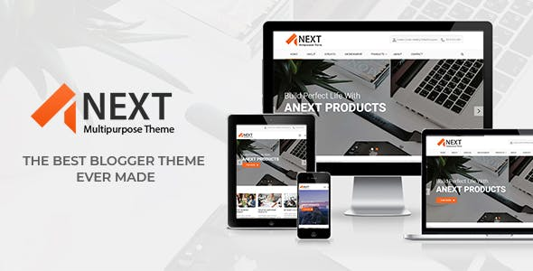 Download Anext - Responsive Multipurpose Blogger Theme