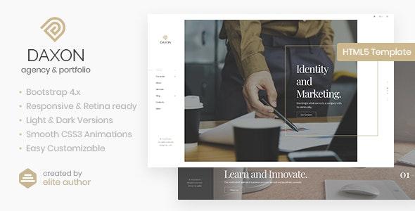 Daxon - Agency & Portfolio HTML5 Template - Portfolio Creative