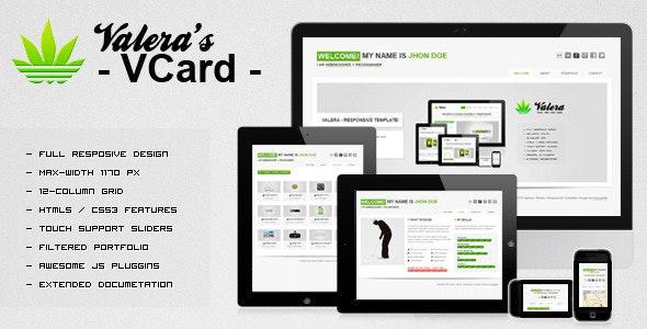 VALERA's - Responsive Vcard - Personal Site Templates
