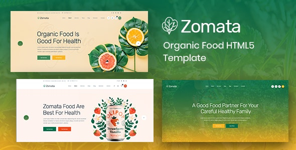 Zomata - Organic Food HTML5 Template - Retail Site Templates