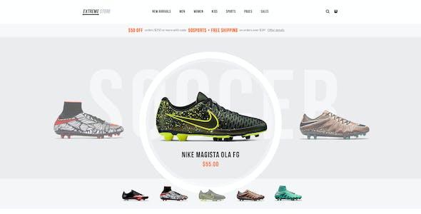 Extreme | Sports Clothing & Equipment Store WordPress Theme