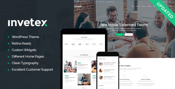 Invetex | Business Consulting & Investments WordPress Theme + RTL - Business Corporate