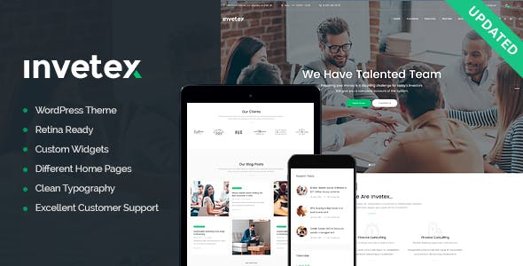 Invetex | Business Consulting & Investments WordPress Theme + RTL