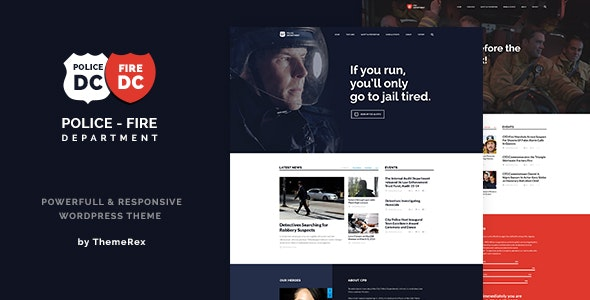 Police & Fire Department and Security Business WordPress Theme - Nonprofit WordPress