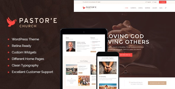 Pastor'e | Church, Religion & Charity WordPress Theme - Churches Nonprofit