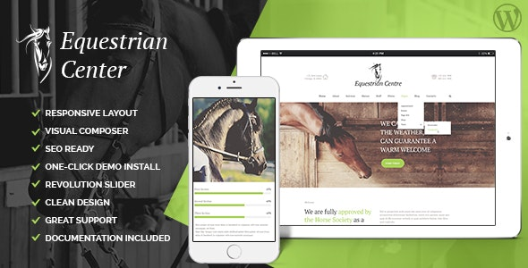 Equestrian Centre & Horse-riding School WordPress Theme - Miscellaneous WordPress